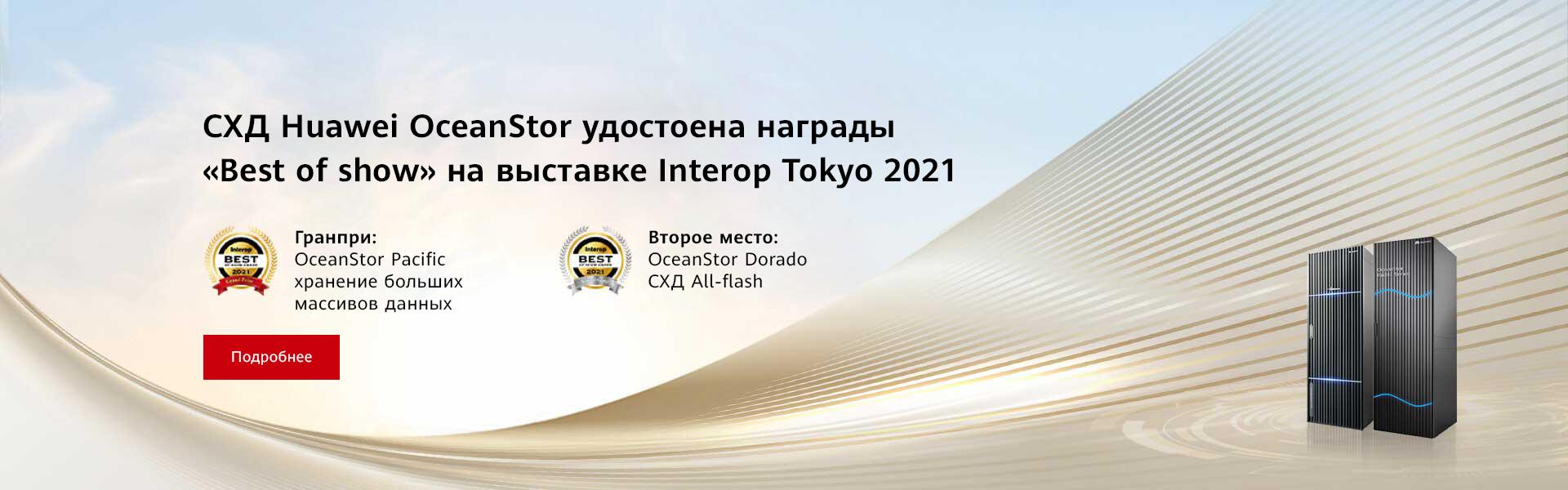 Система хранения Huawei OceanStor удостоена награды Best of Show Award на выставке Interop Tokyo 2021_bg