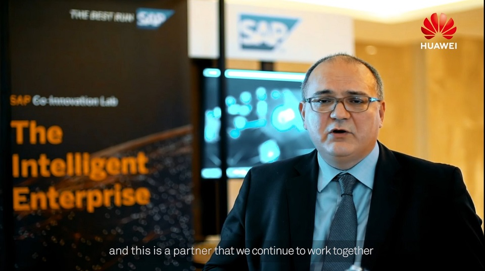 SAP talks about their partnership with Huawei at the Huawei Middle East Ecosystem Partner Summit 2019